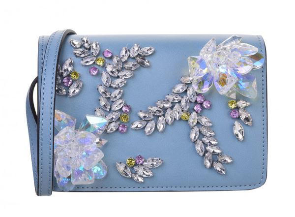 Сумки Topshop весна-лето 2018 - Голубая сумка через плечо с крупными кристаллами