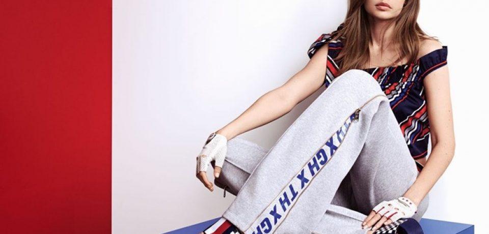 Джиджи Хадид в лукбуке коллекции Tommy X Gigi весна-лето 2018