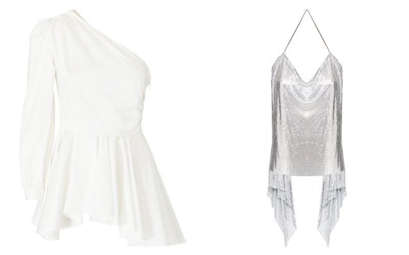 Женская коллекция Marciano Los Angeles весна-лето 2018 - Белая и серебристая блузки-топы