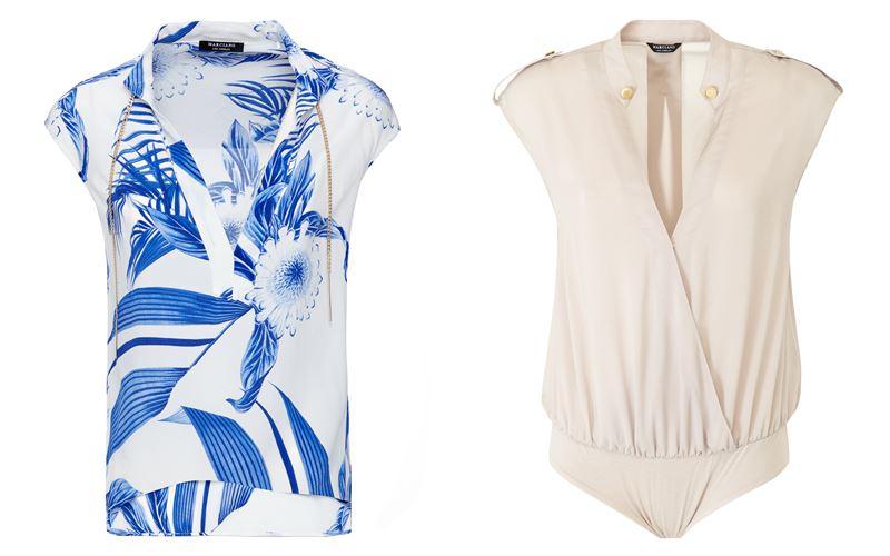 Женская коллекция Marciano Los Angeles весна-лето 2018 - Летние блузки без рукавов и с запахом