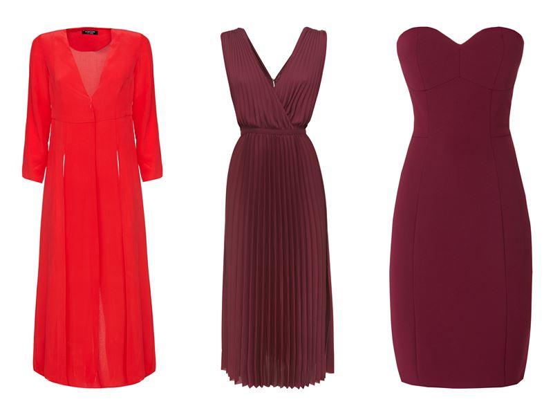 Женская коллекция Marciano Los Angeles весна-лето 2018 - Красные и бордовые платья