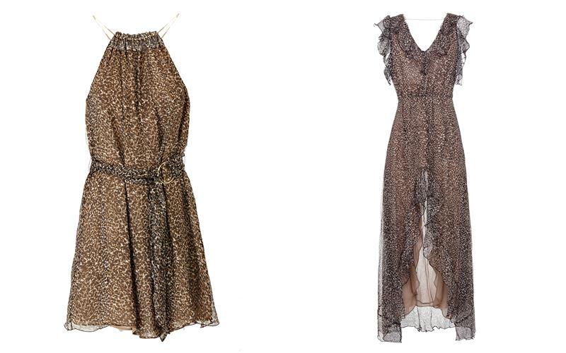 Женская коллекция Marciano Los Angeles весна-лето 2018 - Шифоновые платья с леопардовым принтом