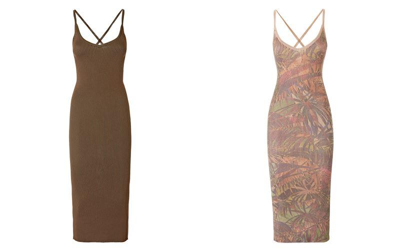 Женская коллекция Marciano Los Angeles весна-лето 2018 - Облегающие сарафаны-миди из тонкого трикотажа