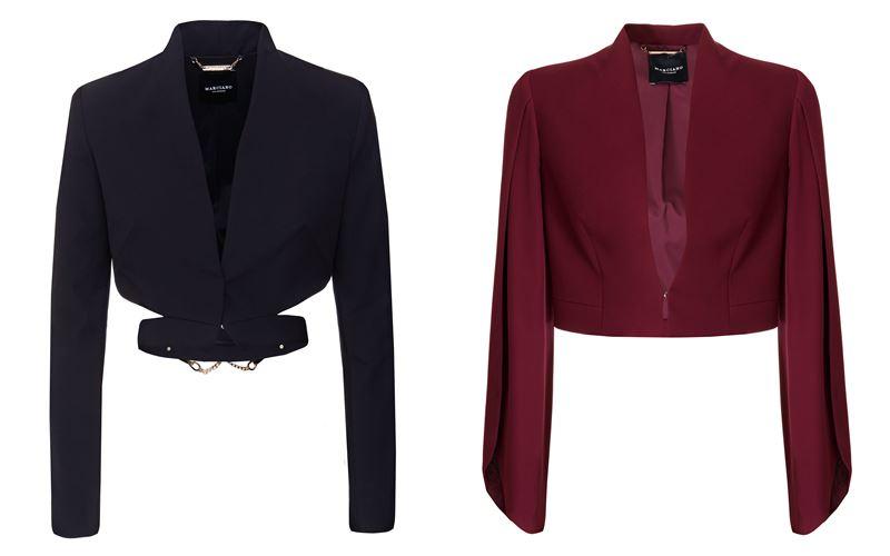 Женская коллекция Marciano Los Angeles весна-лето 2018 - Короткие жакеты чёрного и бордового цвета