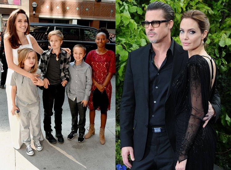 Лучшие жёны по знаку зодиака - Анджелина Джоли (Близнецы - Кролик) и Брэд Питт (Стрелец - Кролик)