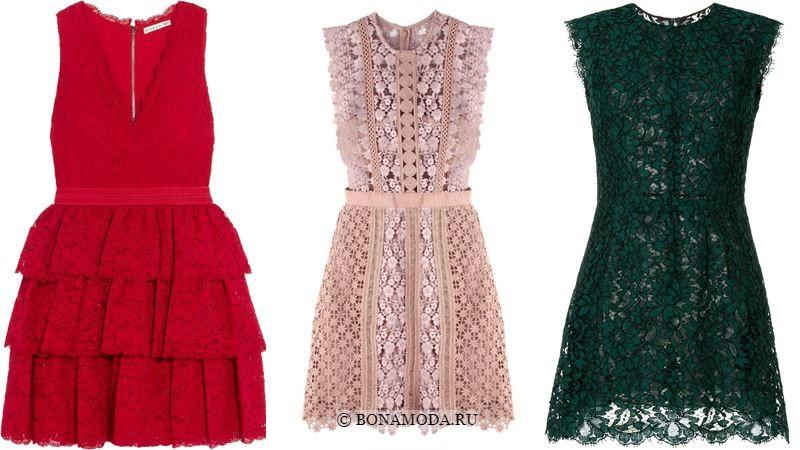 Модные короткие платья 2018 - Кружевные мини-платья без рукавов