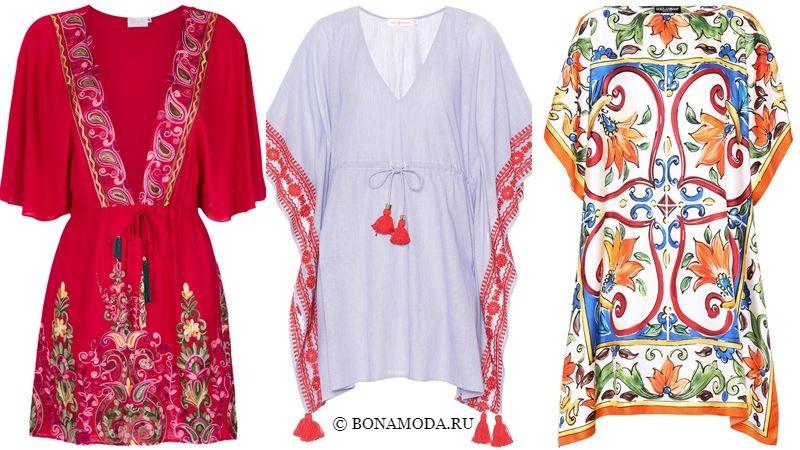 Модные короткие платья 2018 - Этнические туники