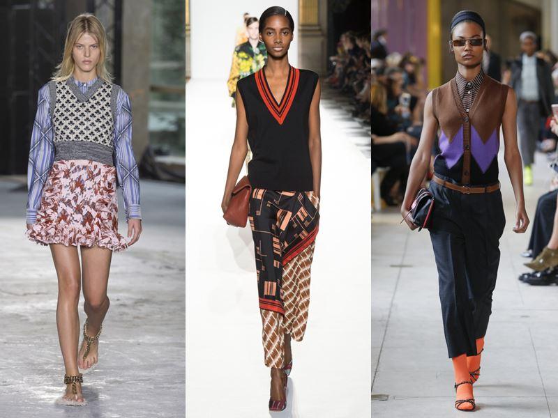 Модные женские трикотажные безрукавки весна-лето 2018 - тенденции с подиума