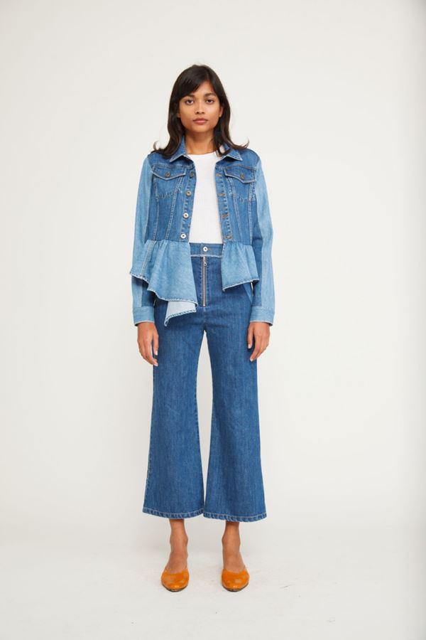 Женские джинсы весна-лето 2018 - Укороченные расклешённые джинсы-кюлоты