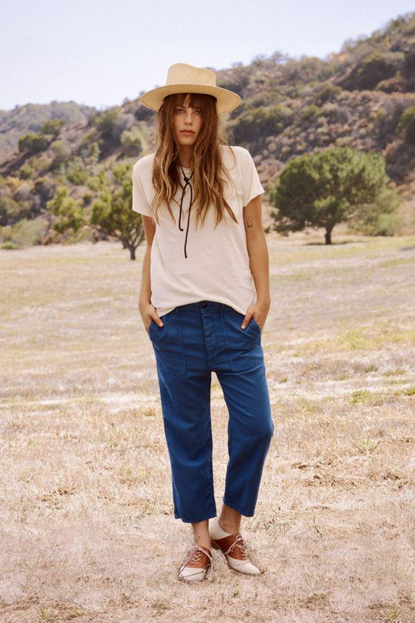 Женские джинсы весна-лето 2018 - Тёмно-синие укороченные джинсы