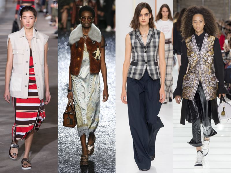 Модные женские жилеты весна-лето 2018 - тенденции с подиума