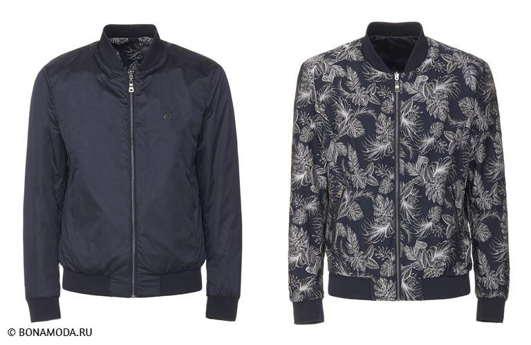 Мужская коллекция Marciano Los Angeles весна-лето 2018 -  тёмно-синие куртки-бомберы