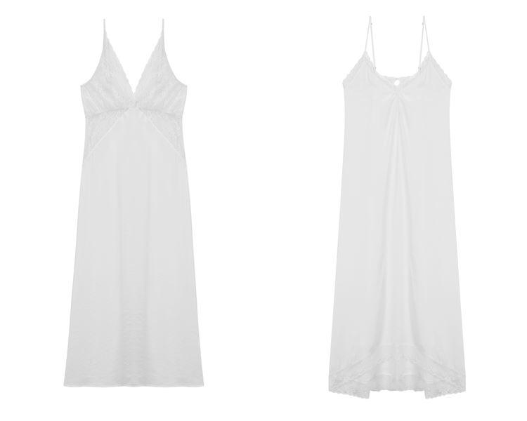 Свадебная коллекция нижнего белья Women'secret 2018 - белые шёлковые ночные сорочки