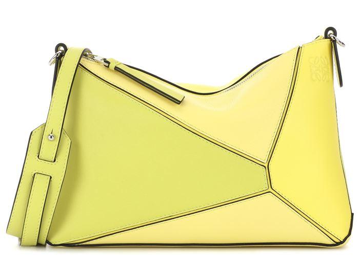 Яркая жёлтая сумка Loewe