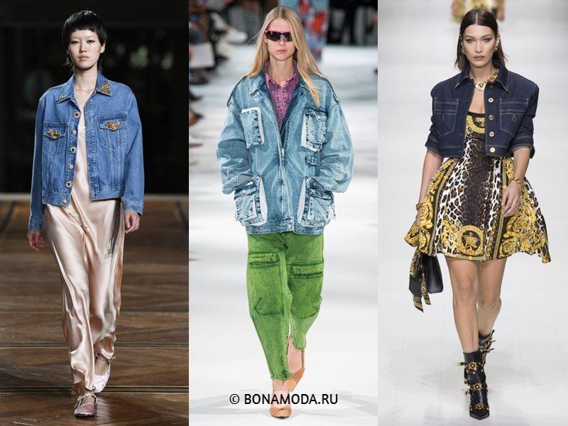 Женская верхняя одежда весна-лето 2018 - Голубые и синие джинсовые куртки: