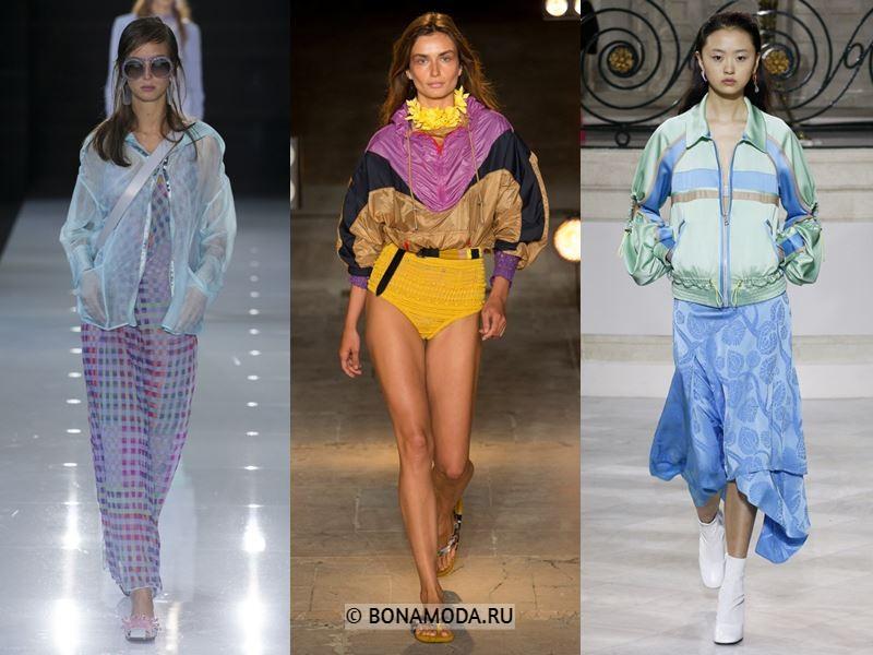 Женская верхняя одежда весна-лето 2018 - спортивные синтетические куртки