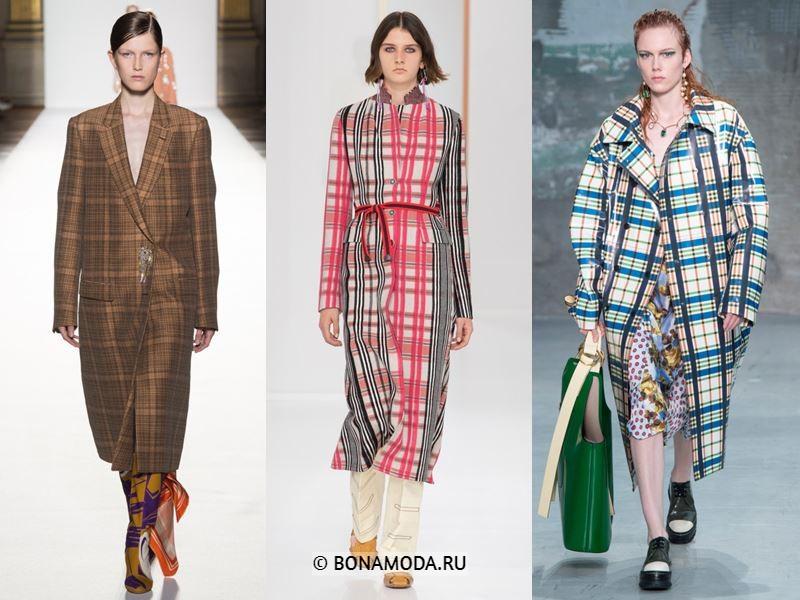 Женская верхняя одежда весна-лето 2018 - Стильные женские пальто в клетку