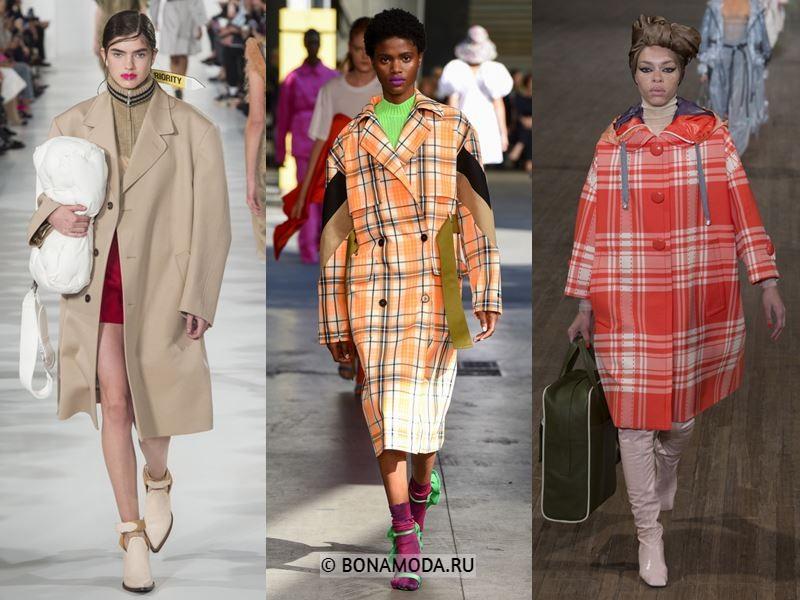 Женская верхняя одежда весна-лето 2018 - Широкие пальто оверсайз