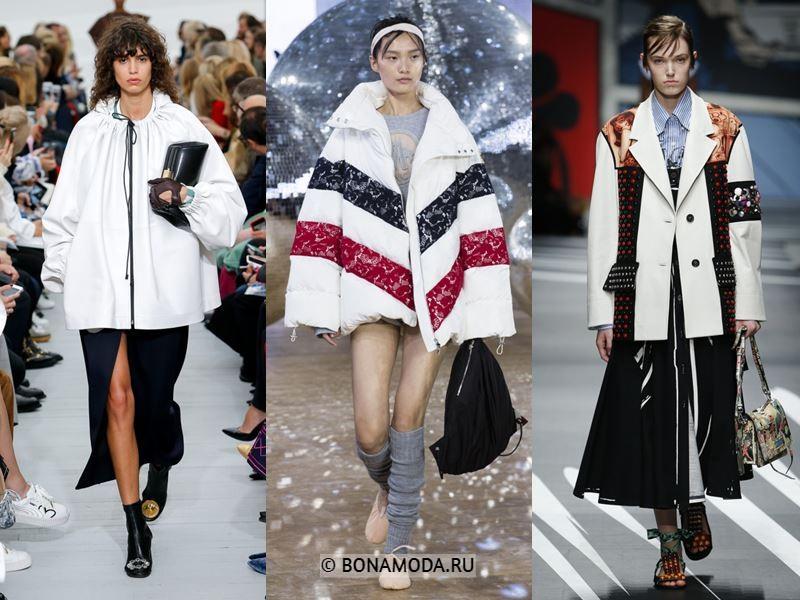 Женская верхняя одежда весна-лето 2018 - Белые куртки оверсайз