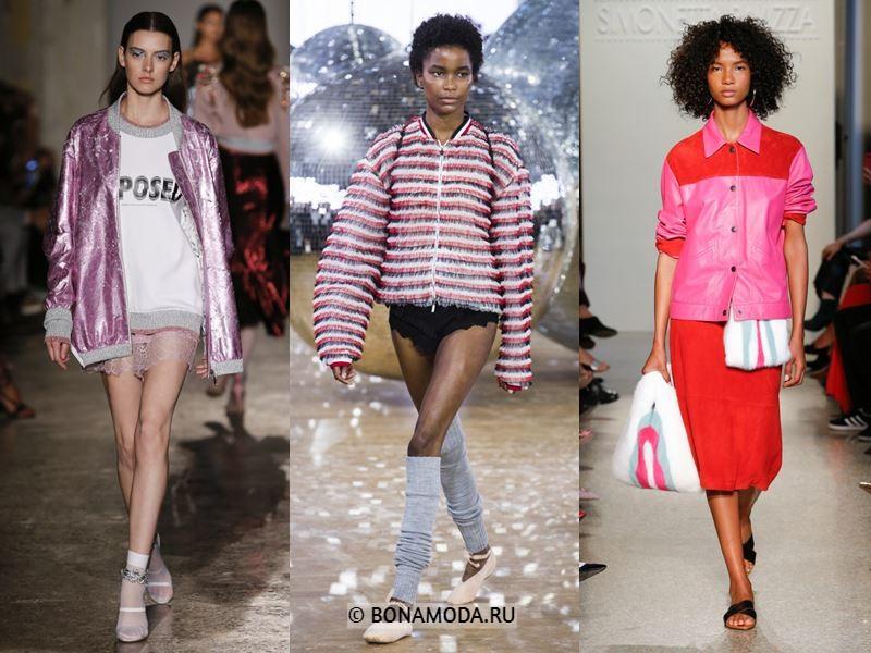 Женская верхняя одежда весна-лето 2018 - Модные розовые куртки