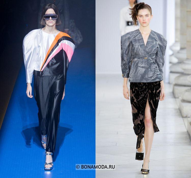 Женские блузки весна-лето 2018 - Блузки в стиле 80-х с высокими жёсткими плечами