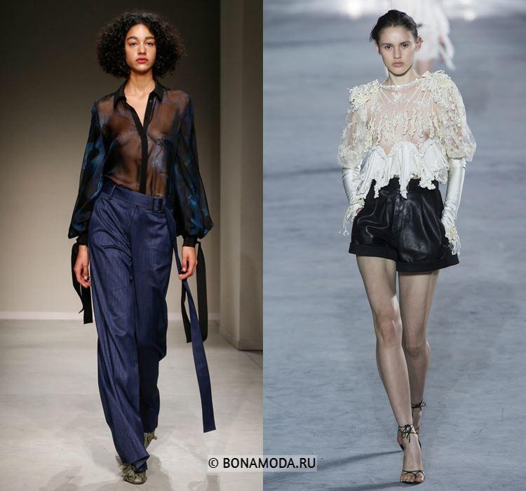 Женские блузки весна-лето 2018 - Просвечивающиеся блузки