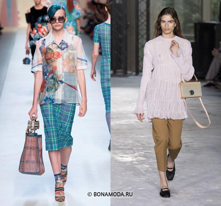 Женские блузки весна-лето 2018 - Полупрозрачные летние блузки