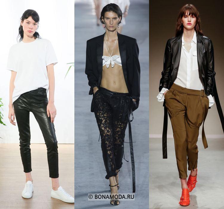 Женские брюки весна-лето 2018 - Зауженные укороченные брюки