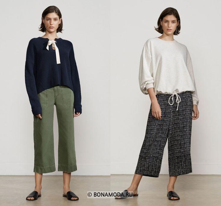 Женские брюки весна-лето 2018 - Повседневные удобные брюки-кюлоты