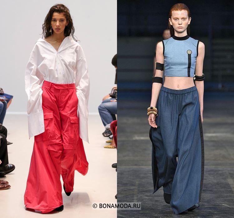 Женские брюки весна-лето 2018 - Широкие брюки-палаццо