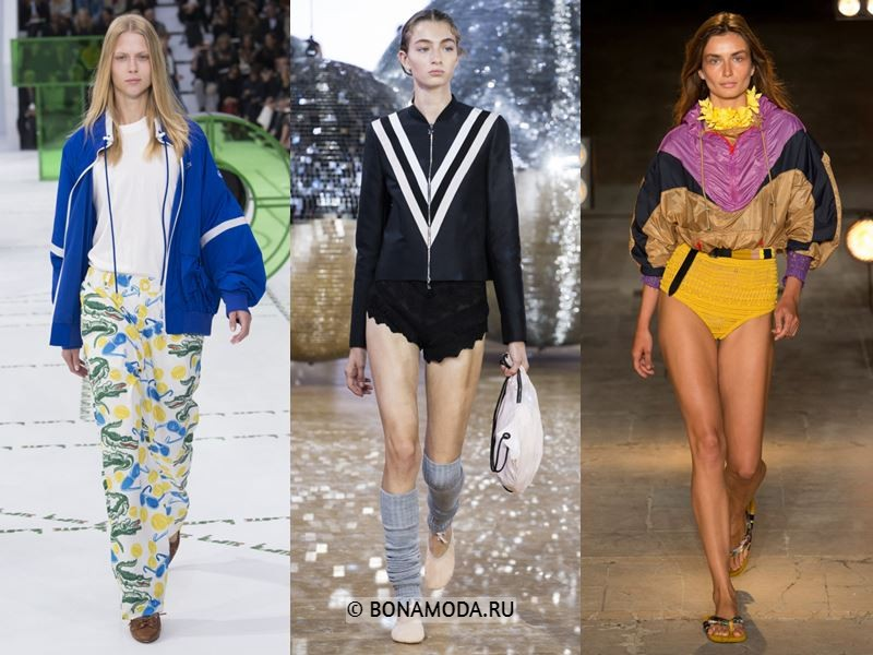 Женские куртки весна-лето 2018 - Спортивные куртки с полосками