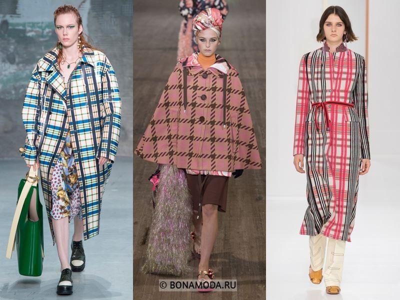Женские пальто весна-лето 2018 - клетчатые пальто