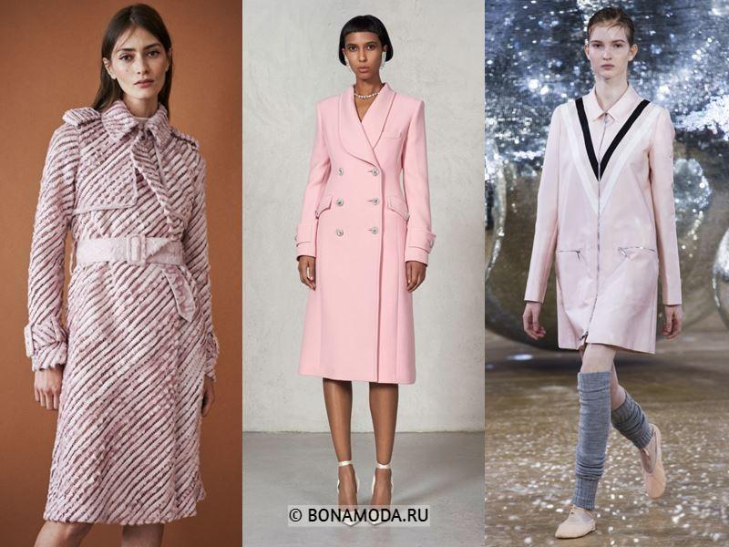 Женские пальто весна-лето 2018 - Пальто в пастельно-розовых оттенках