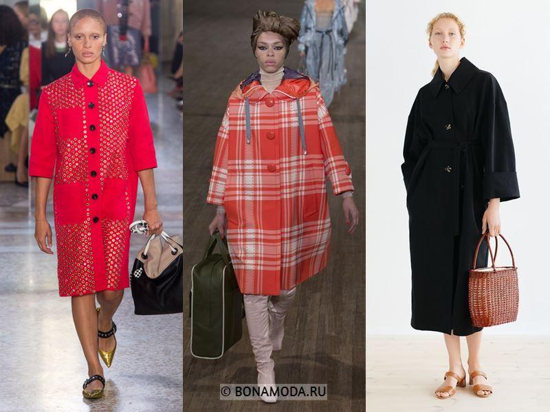 Женские пальто весна-лето 2018 - Пальто с укороченными рукавами