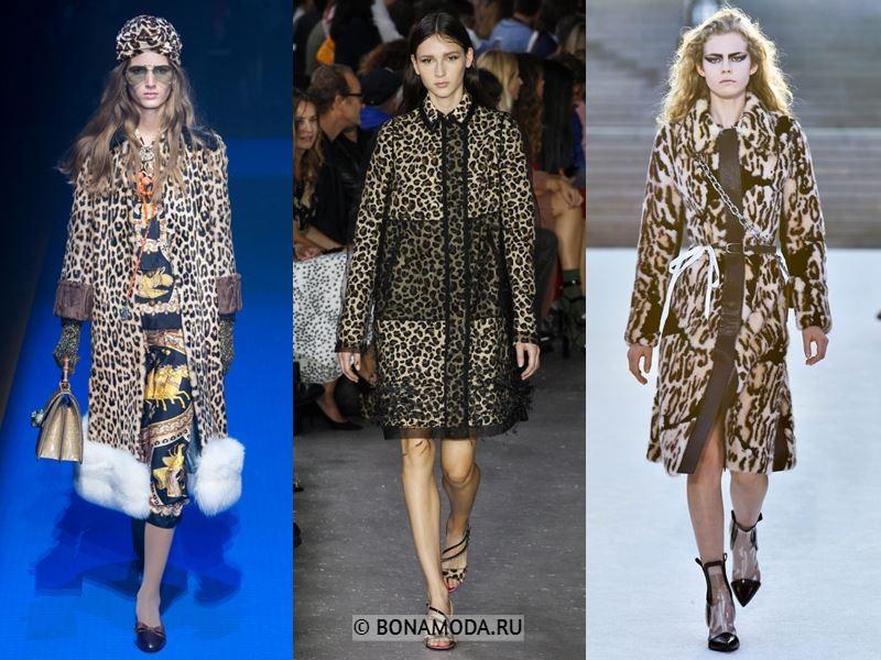 Женские пальто весна-лето 2018 - Модные пальто с леопардовым принтом