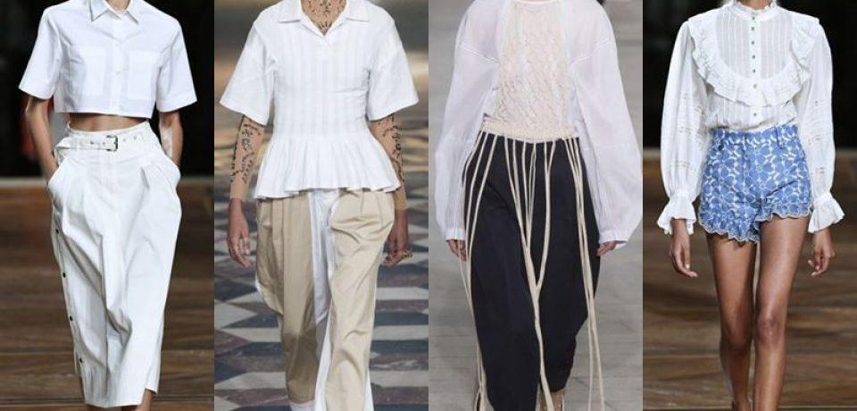 Модные белые блузки и рубашки весна-лето 2018