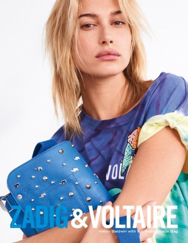 Хейли Болдуин в рекламной кампании Zadig & Voltaire весна-лето 2018 - сумка Ready Made