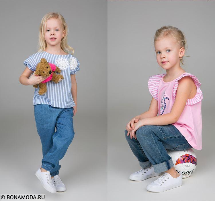Детская коллекция BAON весна-лето 2018 - Летние образы для девочек с джинсами и топами