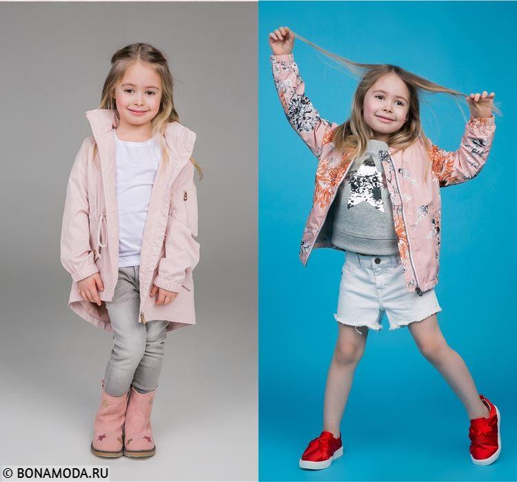 Детская коллекция BAON весна-лето 2018 - весенние образы для девочек с розово-персиковыми куртками