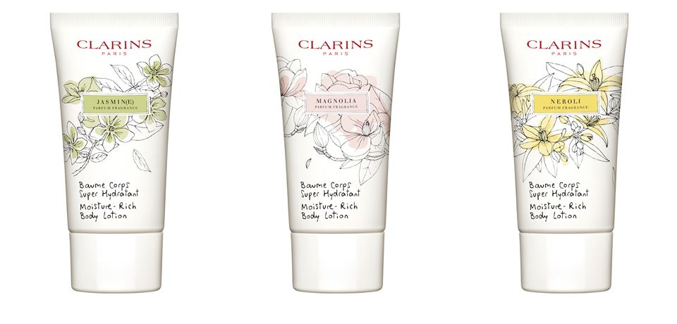 Коллекция косметики Clarins White Flowers с ароматом магнолии, жасмина и нероли