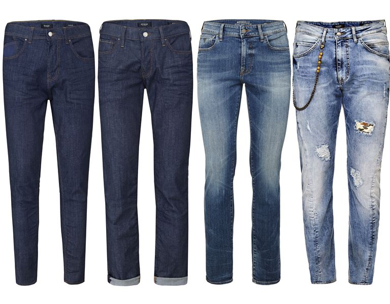 Мужская коллекция Guess Jeans весна-лето 2018 - прямые и зауженные джинсы