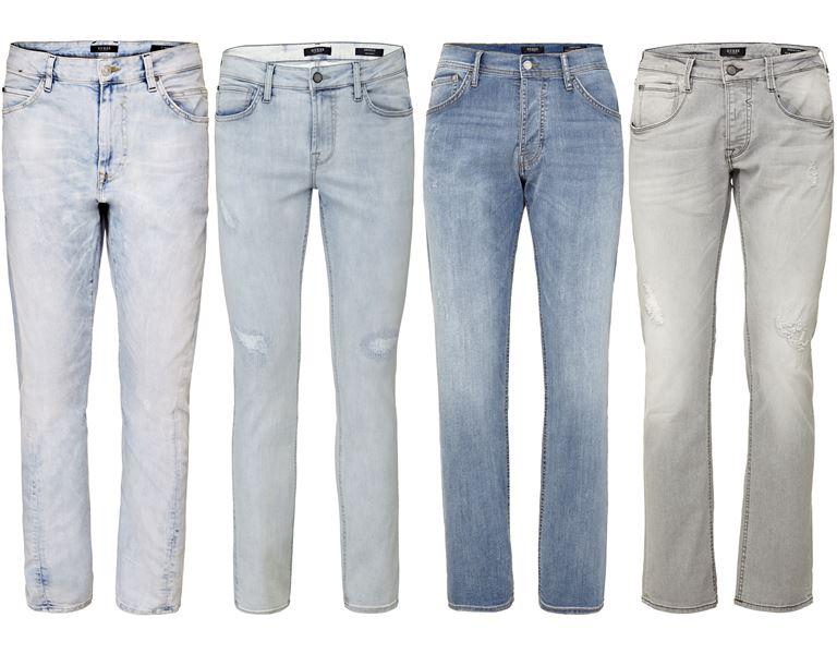 Мужская коллекция Guess Jeans весна-лето 2018 - светлые потертые джинсы