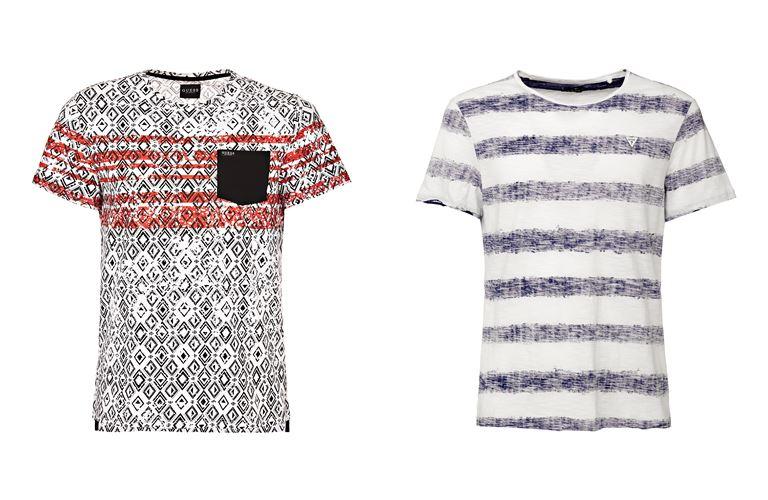 Мужская коллекция Guess Jeans весна-лето 2018 - футболки с принтом