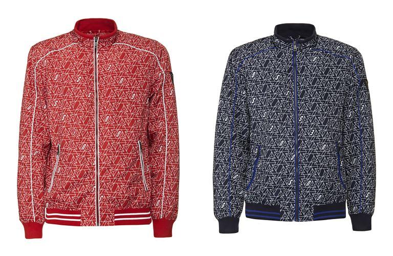 Мужская коллекция Guess Jeans весна-лето 2018 - спортивные куртки с принтом
