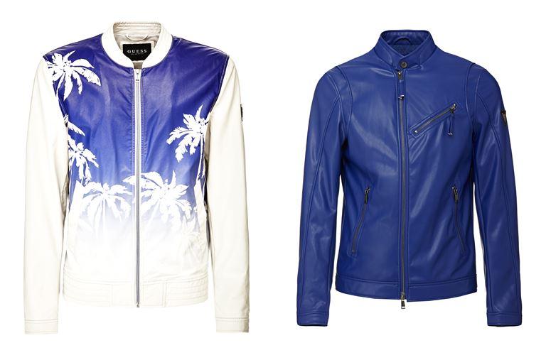 Мужская коллекция Guess Jeans весна-лето 2018 - кожаные куртки на молнии