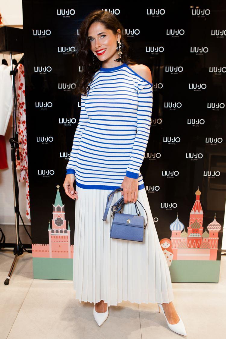 Открытие бутика LIU JO в Атриуме - март 2018 - журналист и актриса Полина Аскери