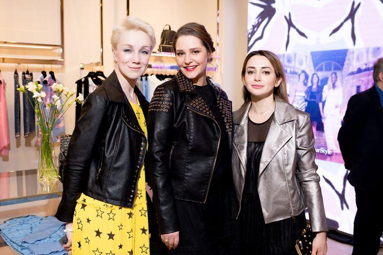 Открытие бутика LIU JO в Атриуме - март 2018 - Дарья Мороз, Глафира Тарханова и Анжелика Каширина