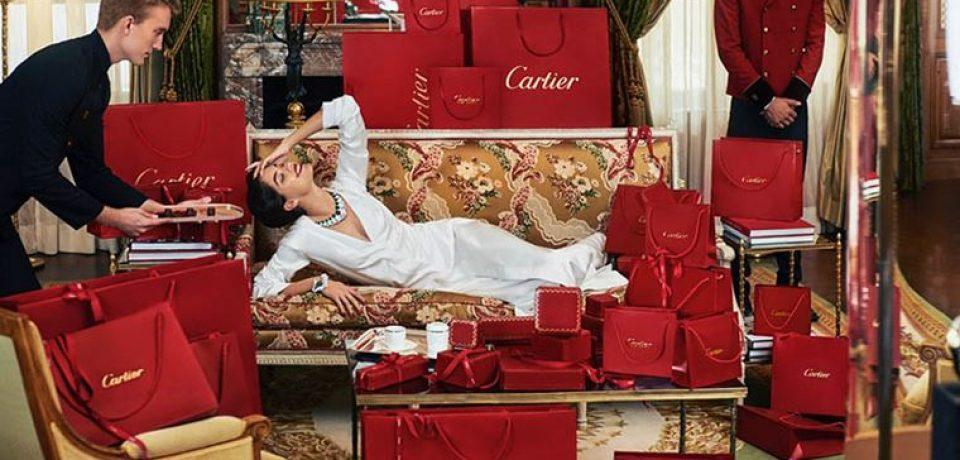 Сара Сампайо в Cartier для журнала Sorbet лето-2018
