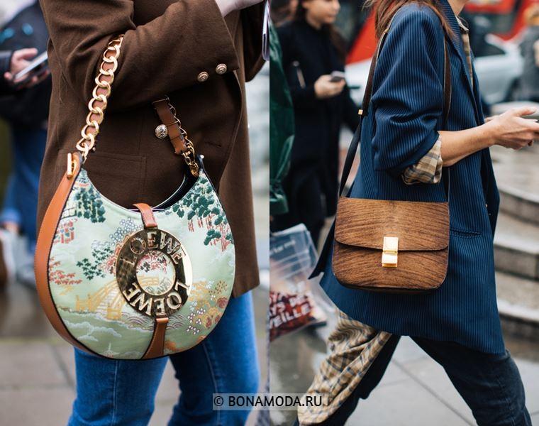 Уличный стиль Лондона осень-зима 2018-2019 - Сумки через плечо, блейзеры и джинсы