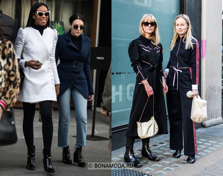 Уличный стиль Лондона осень-зима 2018-2019 - Элегантные пальто и спортивный костюм